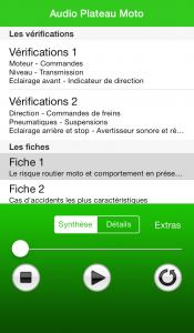 Apple fiches plateau moto - Vérifications