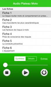 Apple fiches plateau moto - Fiche 1