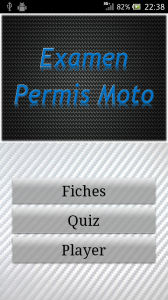Android fiches plateau moto - Application