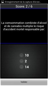 Android fiches plateau moto - QCM Alcool et Drogues
